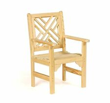 Amish Handcrafted Patio Chair Chippendale Pressure Treated Kiln Dried Wood