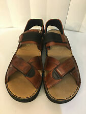 Rieker Lucy Brown Leather Antistress Strap Open Toe Cushioned Sandals Sz 8.5-9.5