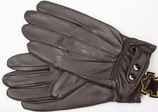 BROWN MEN'S LAMBSKIN LEATHER WINTER DRIVING EVERYDAY GLOVES LARGE