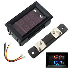 DC 100V 10A 50A 100A LED Digital Voltmeter Ammeter Ampere Voltage Panel Meter