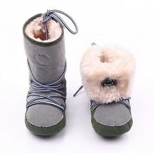 Newest Boy Girl Winter Warm Boots Toddler Infant Soft Crib Shoes Size 0-18months