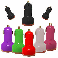 DUAL USB PORT IN-CAR BULLET CHARGER PLUG ADAPTER FOR LATEST MOBILE PHONES