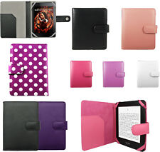 LEATHER CASE COVER WALLET FOR AMAZON KINDLE 4 4TH GEN & KOBO TOUCH + SP
