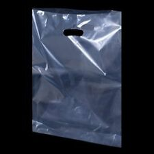 """CLEAR  Plastic Carrier Bags Shopping Bags/ Party Gift Bags  15"""" x 18"""" x 3"""""""