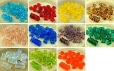 20pcs Crystal Flat Waved Square Chip Washer Czech Glass Beads 10mm x 4mm