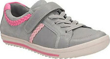 Clarks EPSIE COOL Girls Grey Leather Shoes Trainers 10 - 12 F Widths Boxed