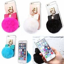 Soft Cute Plush Ball Girly's Case Slim TPU Cover Skin For Apple iPhone 5S 5 SE