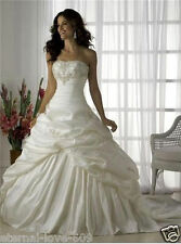 New Stock White or Ivory Wedding Dress Bridal Gown Size : 6 8 10 12 14 16 18