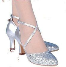 Womens Mary Jane bling Lolita Latin Dance Strappy Heels Fashion Pumps Shoes size