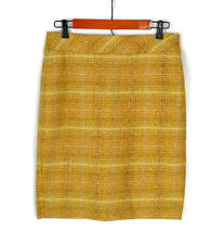 J.CREW No. 2 Pencil Skirt Yellow Tweed Wool Blend Size 4 Women's EX COND! Plaid