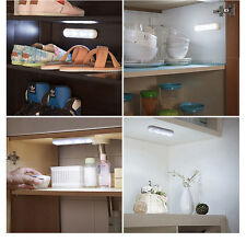 4 LED Wireless Battery Powered Under Cabinet Touch Tap Night Light Wall Lamp