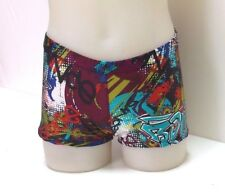 Dance or Exercise Shorts, Multicoloured Graffiti Print Lycra, Child's, New