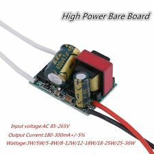 85-265V 180-300mA+/-5% LED Constant Current Driver High Power Bare Board OE