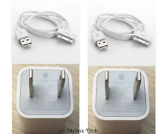 OEM Genuine Apple iPhone 4 4S 3GS 30 Pin USB Sync Data Cable + Charger Adapter