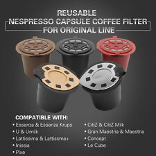 BRBHOM Refillable Reusable Nespresso Coffee Capsule Filter Pod Stainless Steel