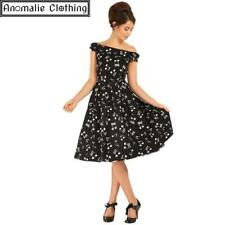 Lindy Bop Christie Music Print Swing Dress 1950s Vintage Retro Rockabilly Pinup