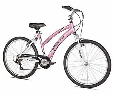 """Girls Bike 26"""" For Women Cruiser Bicycles 7 Speed Adult Pink With Comfort Seat"""