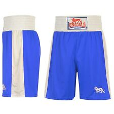 Lonsdale Boxing Shorts Mens Blue/White Fight Gym Training Sportswear