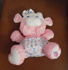 Fisher Price Vintage COW Pink Puffalump Plush Stuffed Animal 1999