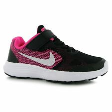 Nike Revolution 3 Trainers Junior Girls Black/Silver/Pink Sports Sneakers Shoes