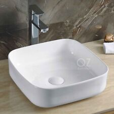 Bathroom White Square Above Counter Top Ceramic Basin Bowl Faucet Vanity Sink