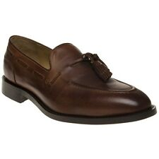 New Mens H by Hudson Tan Benedict Leather Shoes Loafers And Slip Ons On