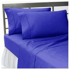 US FULL SIZE EGYPTIAN  BLUE SOLID 1000TC 100%EGYPTIAN COTTON US LUXURY SHEET SET