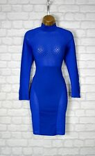 ~ZARA~ Blue Celeb Bodycon Evening Midi Pencil Wiggle Party Dress 8 10 12 14