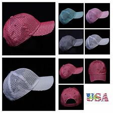 Baseball Cap Plain Mesh Trucker Hat Fashion Snapback Casual Hats Unisex Caps