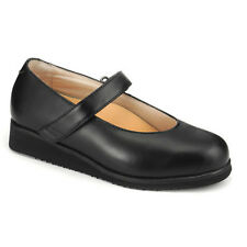 Mt. Emey Therapeutic Comfort Diabetic Extra Wide Womens Black Leather Shoes 9202