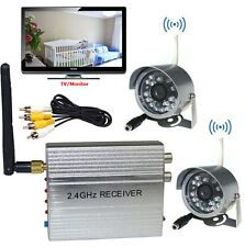 2.4G Wireless 4CH Home Security CCTV System + 2x 24LEDs Outdoor Security Camera