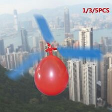 1/3/5PCS  Balloon Helicopte Flying DIY Flight Science Plane Children Toy XP