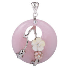 40mm Mixed Charming Flower Agate Pendants Gemstone Pendant Jewelry Accessories