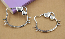 2/10/50pcs 45x32mm Tibet silver hollow out the cat charm pendant jewelry