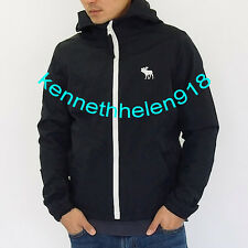NWT ABERCROMBIE & FITCH MENS WINDBREAKER HOODED JACKET COAT NAVY SIZE XLARGE A&F