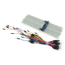 MB102 Power Supply Module 3.3V 5V+MB102 Breadboard Board 830 Point+ Jumper Cable
