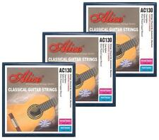 3 packs CLASSICAL GUITAR STRINGS silver wound NORMAL HIGH TENSION nylon tie on