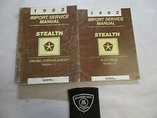 1992 DODGE STEALTH 2 VOLUME SERVICE SHOP REPAIR MANUAL SET