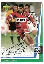 1999 Upper Deck Major League 'Soccer Sigh of the Times' Certified Autograph Card