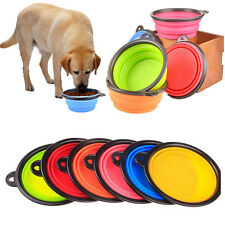 Portable Folding Pet Dog Cat Silicone Feeding Bowl Food Water Dish Travel Bowl