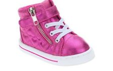 NEW Infant Girls Garanimals Pink Hi Top Sneakers Athletic Shoes Sparkle 3 5 6