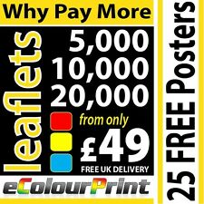 Colour Printing; leaflets / flyers  A4, A5, A6 or DL on 150gms Gloss Artpaper