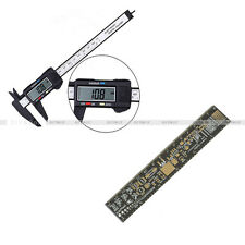LCD Electronic Carbon Fiber Vernier Caliper+PCB Ruler for Electronic Engineers