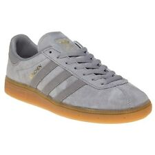 New Mens adidas Grey Munchen Suede Trainers Retro Lace Up