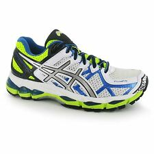 Asics Gel Kayano 21 Running Shoes Womens Wht/Blue/Yel Trainers Sneakers