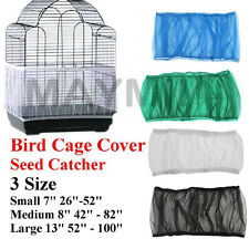 4Colors 3Sizes Seed Catcher Guard Mesh Bird Cage Cover Skirt Traps Debris M2