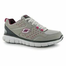 Skechers Synergy A Lister Trainers Womens Gry/Pnk Sneakers Sports Shoes Footwear