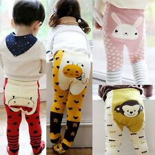 Toddler Baby Boys Girls Cartoon Leggings Warmer Cotton PP Pants Trousers+Socks