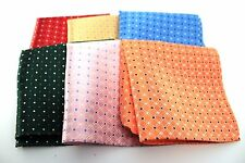 "New 10"" Inches 100% Silk Men's Pocket Square US Diamond Plaid Polka Dot Solid"