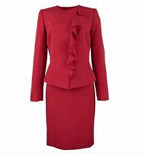 Tahari ASL Womens Petites Ruffled 2PC Skirt Suit - NWT